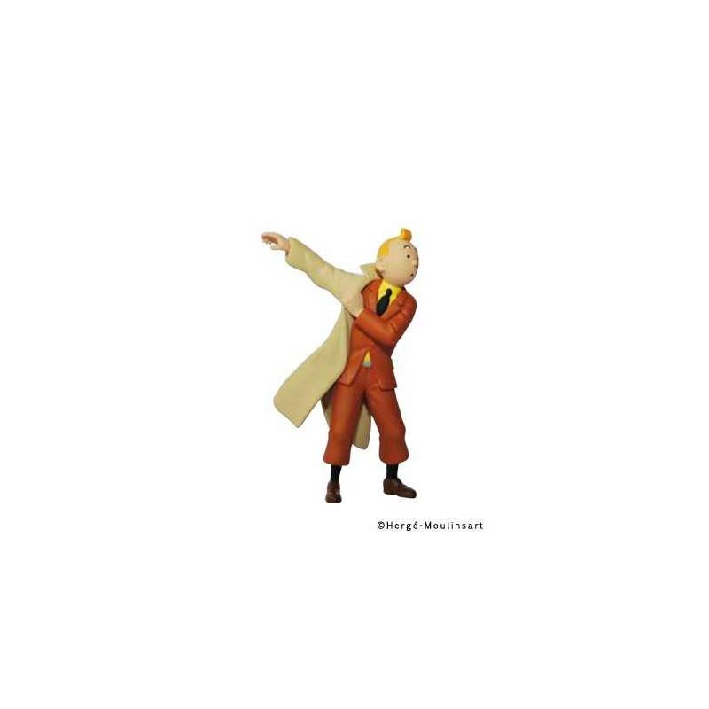 Figura PVC - Tintín poniéndose la gabardina