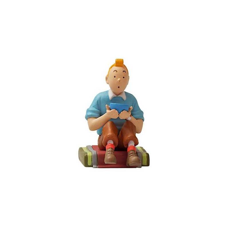 Figura PVC - Tintín sentadoTibet.