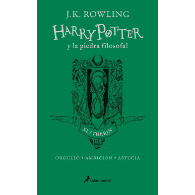Libro - Harry Potter y la piedra filosofal - 20 aniversario (Slytherin)