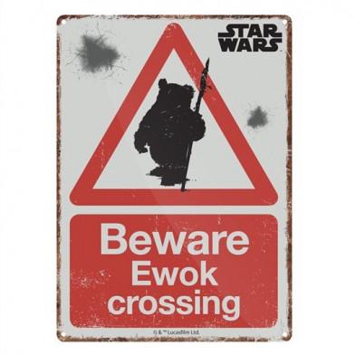 Chapa metálica Star Wars - Ewok