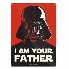 Chapa metálica Darth Vader