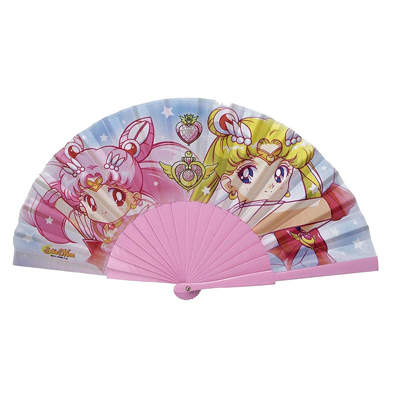 Abanico Sailor Moon - Usagi y Chibiusa