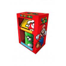 Pack para regalo con Taza + Posavaso + Llavero Super Mario Bros