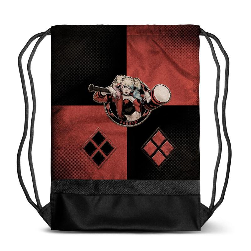 Bolsa tipo saco con diseño de Harley Quinn