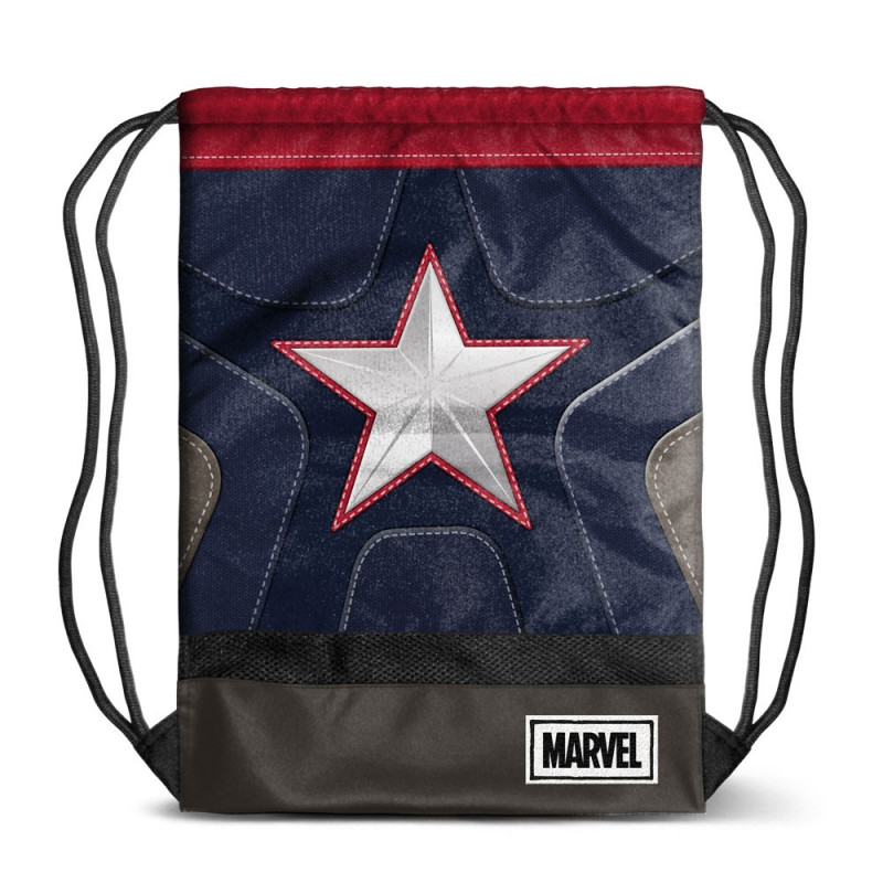 Bolsa tipo saco con diseño de Capitán América