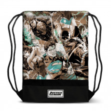 Bolsa tipo saco con diseño de La Liga de la Justicia
