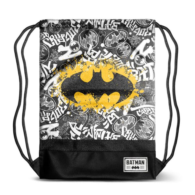 Bolsa tipo saco con diseño de Logo Batman