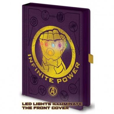 Libreta A5 con LED - Guantelete del Infinito - Thanos