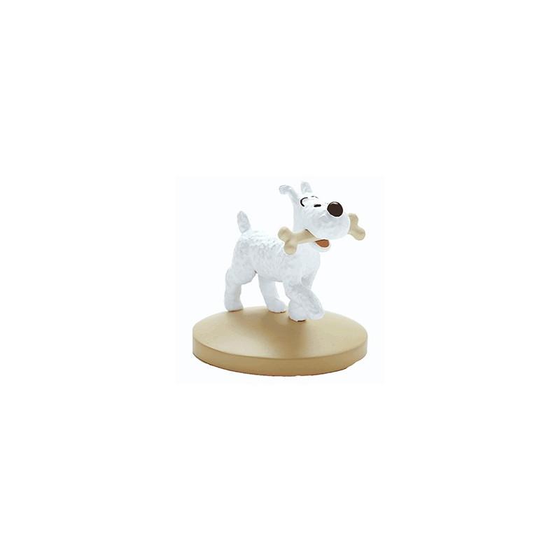Figura PVC de Milú con hueso