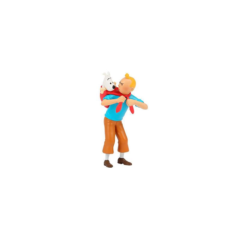 Figura de PVC - Tintín llevando a Milú