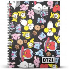 Cuaderno A5 de BT21 (BTS)