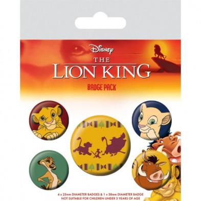 """Set de chapas """"Hakuna Matata"""" - El Rey león"""