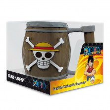 Taza 3D - One Piece - Barril