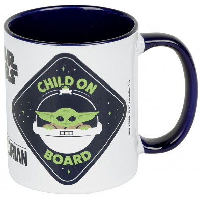 Taza Star Wars: The Mandalorian - Baby Yoda a bordo