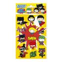 Set de pegatinas DC cómics - Liga de la justicia - Chibi