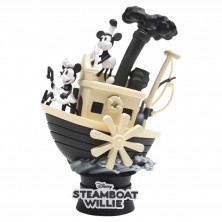 Figura diorama Disney - Steamboat Willie - Mickey Mouse