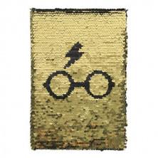 Libreta Harry Potter - Diseño lentejuelas