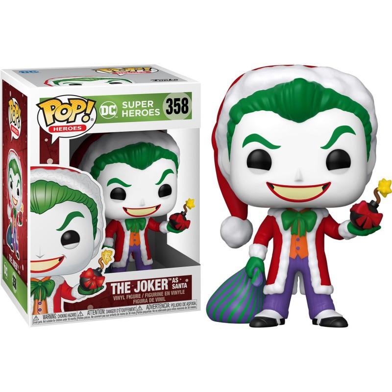Figura Funko Pop - Superheroes 358 - Joker vestido de Santa Claus