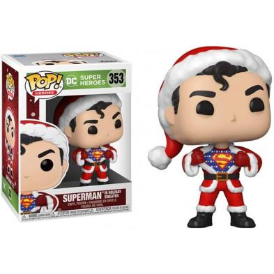 Figura Funko Pop - Superheroes 353 - Superman con jersey navideño