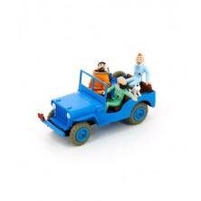 Coche Tintín - Objetivo: la luna - Jeep azul - Escala 1:43