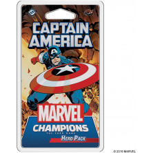 "Juego de cartas - Pack de héroe para ""Marvel Champions"" - Capitán América"