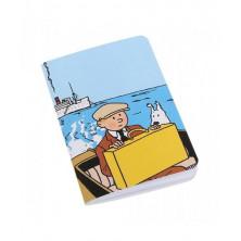 Cuaderno de notas pequeño - Tintín y Milú en barco