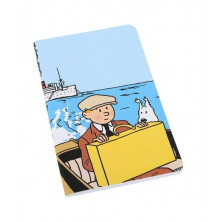 Cuaderno de notas grande - Tintín y Milú en barco