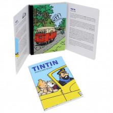 Set de postales - Tintín y los coches