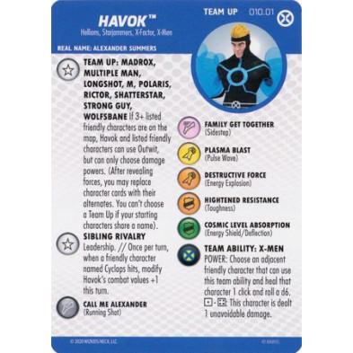 Tarjeta de Heroclix - Havok Team Up 010.02