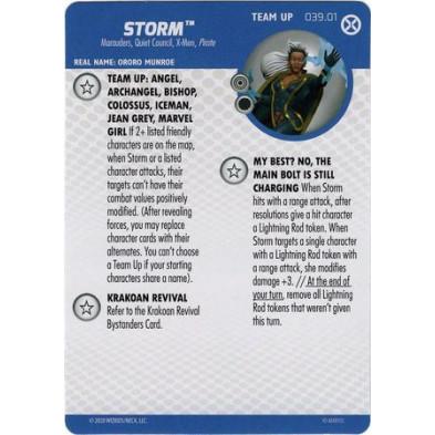 Tarjeta de Heroclix - Storm Team Up 039.01