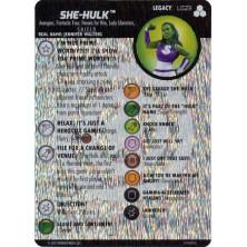 Tarjeta de Heroclix - She Hulk Legacy L023