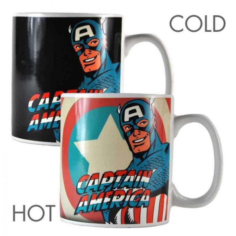 Taza térmica Capitán América