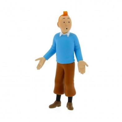 Figura PVC - Tintín jersey azul 8'5 cm.