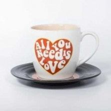 Set de taza y plato - All you need is love